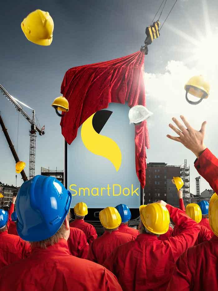 Mobile SmartDok logo presenterades på byggarbetsplatsen