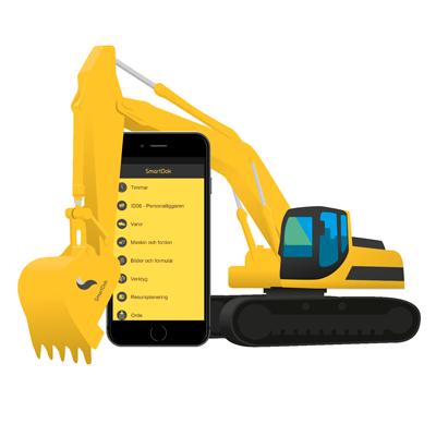 grävmaskin och SmartDok