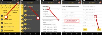 smartdok tidrapporteringsförslag