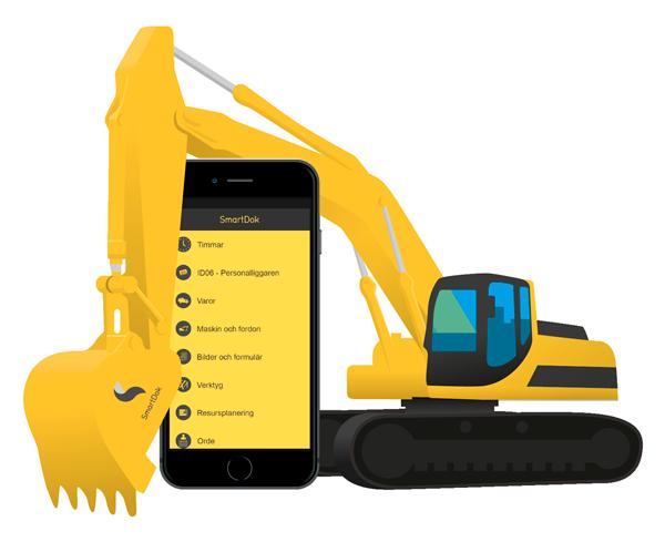SmartDok grävmaskin fordon