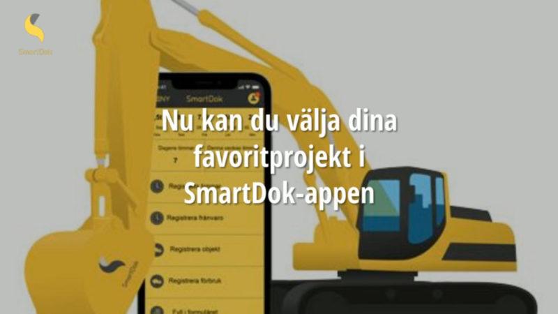 Välj dina favoritprojekt och blir ännu mer effektiv när du använder SmartDok